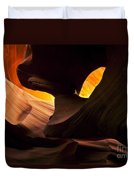 Eye Of The Needle Duvet Cover by Mike  Dawson