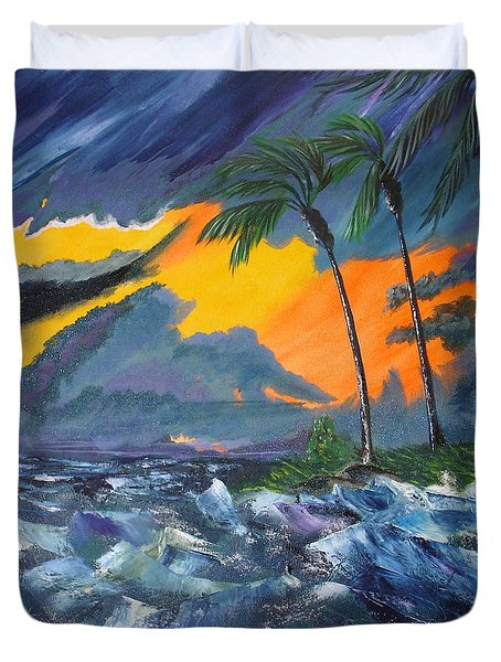 Eye Of The Storm Duvet Cover by Susan Kubes