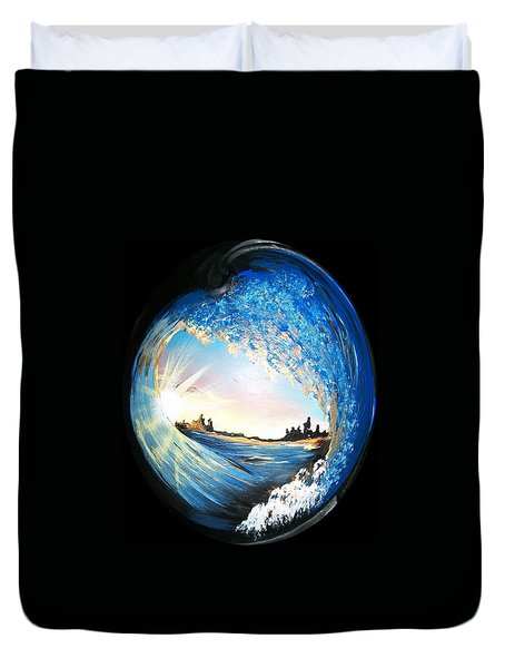 Eye Of The Wave Duvet Cover