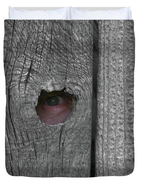 Eye On Life Duvet Cover by Douglas Barnett