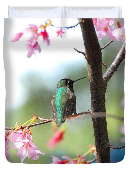 Eye On Spring Duvet Cover by Lynn Bauer