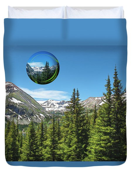 Eye On Summit County Duvet Cover