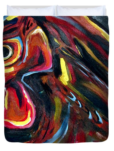 Eye Rooster Duvet Cover