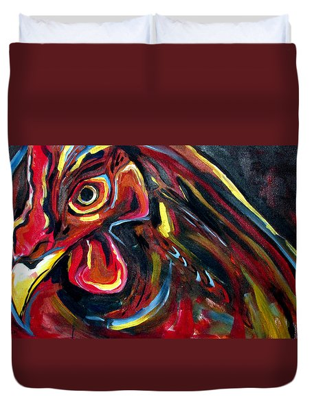 Eye Rooster Duvet Cover