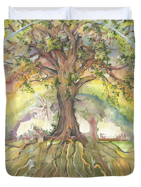 Eye See My Healing Tree Duvet Cover