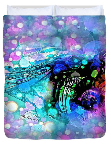 Eye See Duvet Cover by Saundra Myles