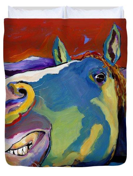Eye To Eye Duvet Cover by Pat Saunders-White
