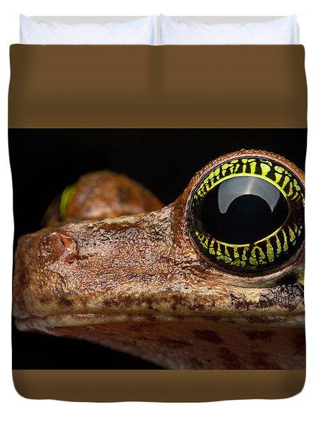 Eye Tropical Tree Frog Duvet Cover by Dirk Ercken