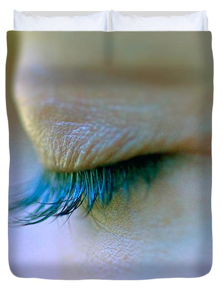 Eyelashes Duvet Cover