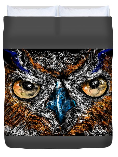Eyes In The Night... Duvet Cover