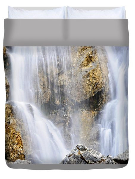 Eyes In The Rocks- Holland Falls  Duvet Cover by Janie Johnson