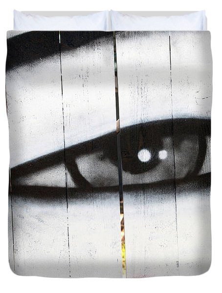 Eyes Like A Lens Duvet Cover