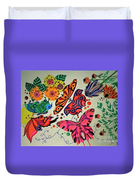 Eyes Of The Butterflies Duvet Cover