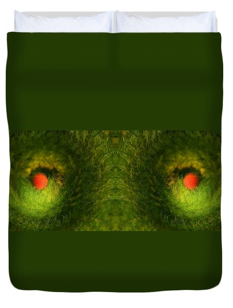 Eyes Of The Garden-2 Duvet Cover