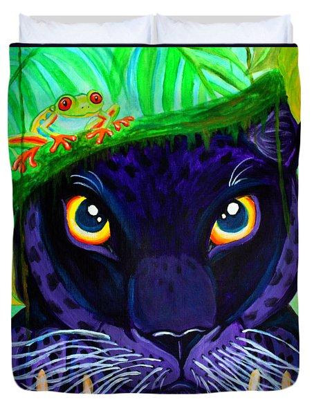 Eyes Of The Rainforest Duvet Cover