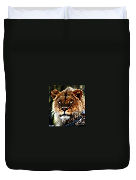 Eyes Of The Young King Duvet Cover by Nick Gustafson