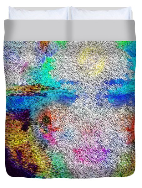 Eyes On The Horizon Duvet Cover