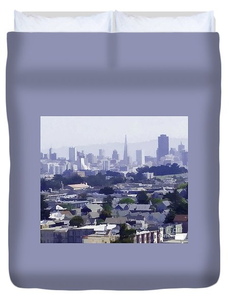 Looking East Toward San Francisco Duvet Cover