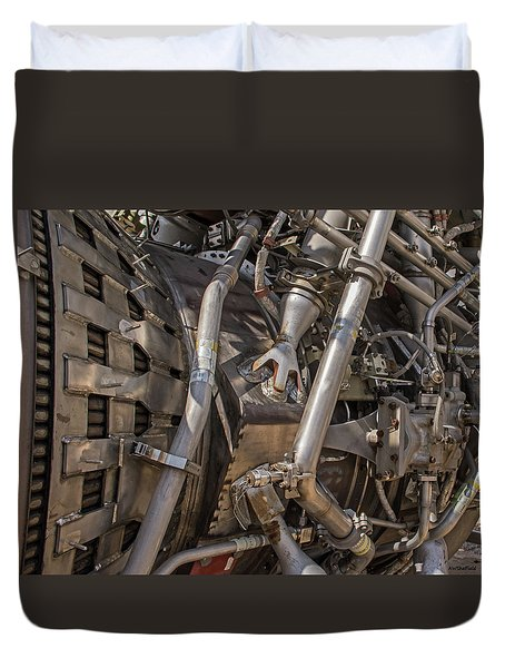 F-1 Rocket Engine Duvet Cover