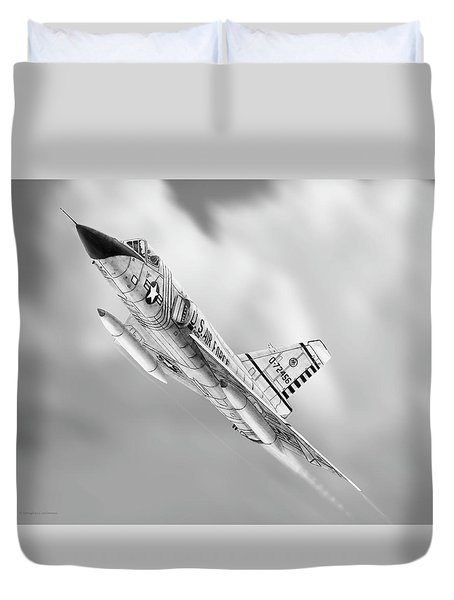 F-106a Drawing Duvet Cover