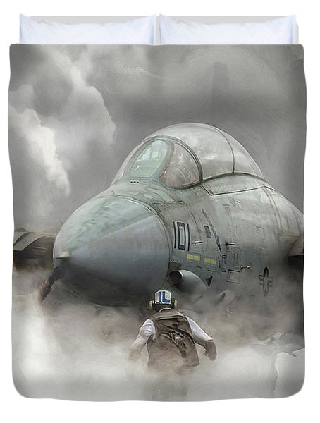 F-14 Smokin' Hot Duvet Cover
