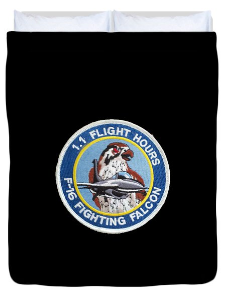 F-16 Ride Patch Duvet Cover
