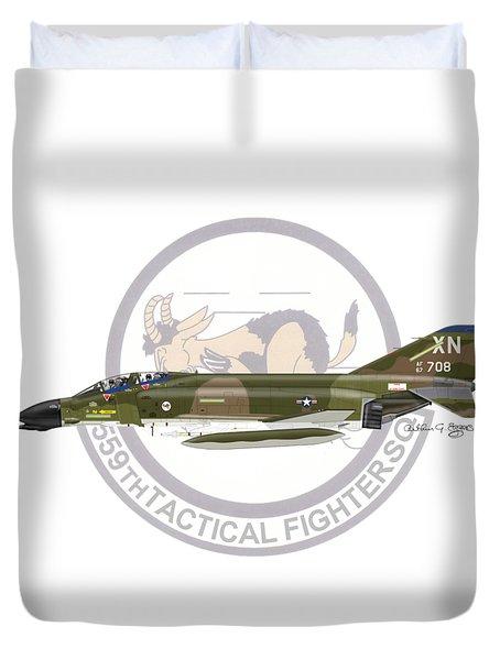 F-4d Phantom 559tfs Duvet Cover by Arthur Eggers