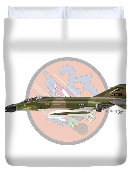 F-4d Phantom Duvet Cover by Arthur Eggers