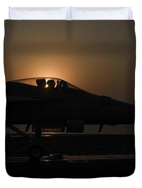 F A-18e Super Hornet 6 Duvet Cover