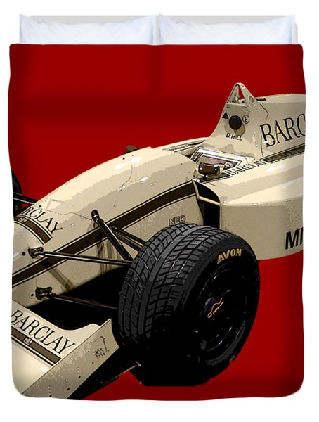 F1 B Racer Art Duvet Cover