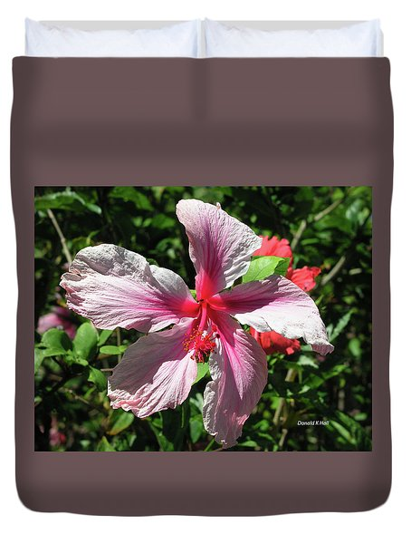 F5 Hibiscus Flower Hawaii Duvet Cover by Donald k Hall