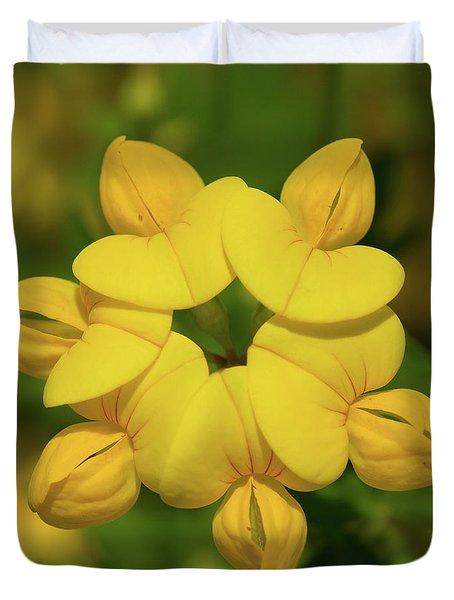 Fabaceae Circle Duvet Cover