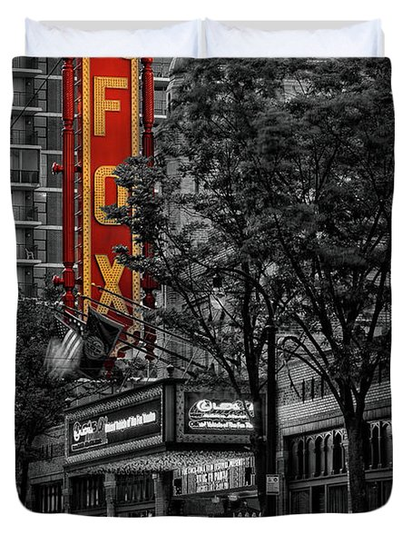 Fabulous Fox Theater Duvet Cover