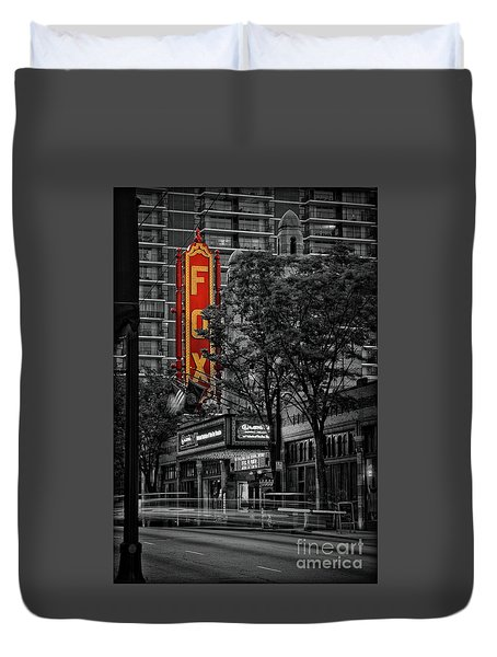 Fabulous Fox Theater Duvet Cover by Doug Sturgess