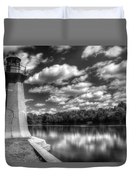Fabyan Lighthouse On The Fox River Duvet Cover