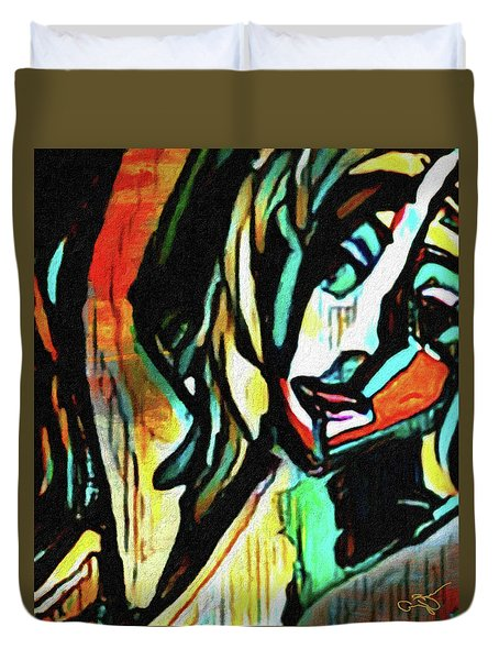 Face #64 Duvet Cover
