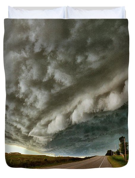 Face In The Storm Duvet Cover