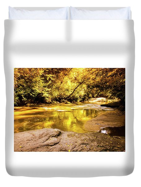 Face In The Water Duvet Cover
