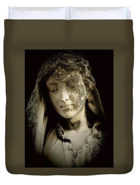 Face Of An Angel 9 Duvet Cover by Maria Huntley