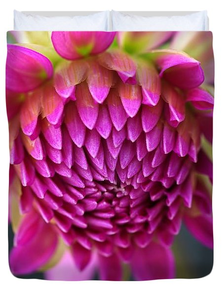 Face Of Dahlia Duvet Cover