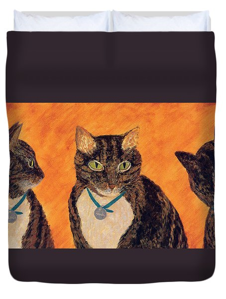 Face-off Duvet Cover