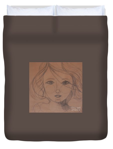 Face Study Duvet Cover by Tamyra Crossley