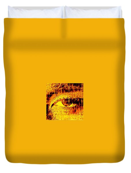 Face The Fire Duvet Cover