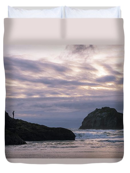 Face Time Duvet Cover