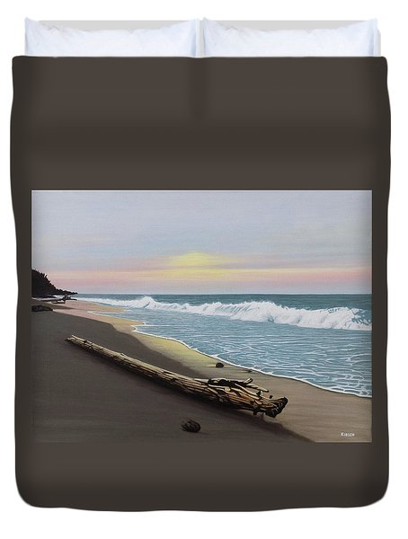 Face To The Morning Duvet Cover