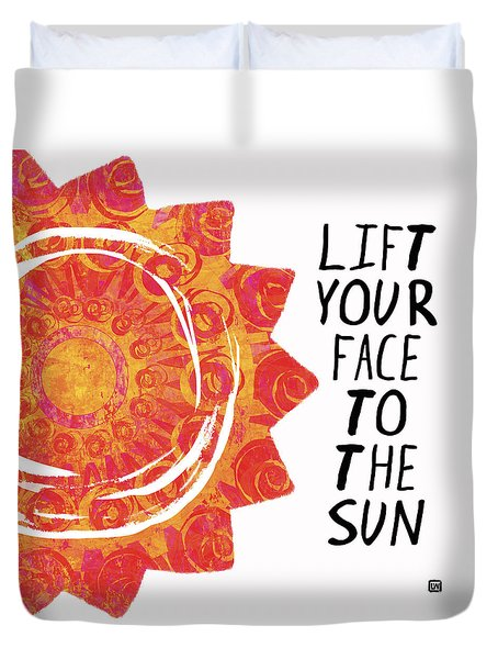 Face To The Sun Duvet Cover