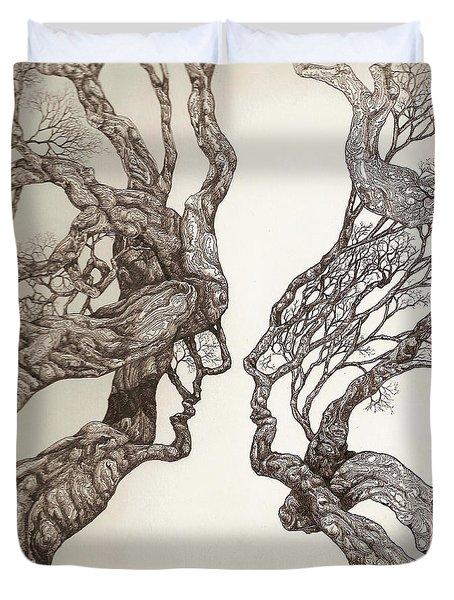 Face Tree 11 Duvet Cover