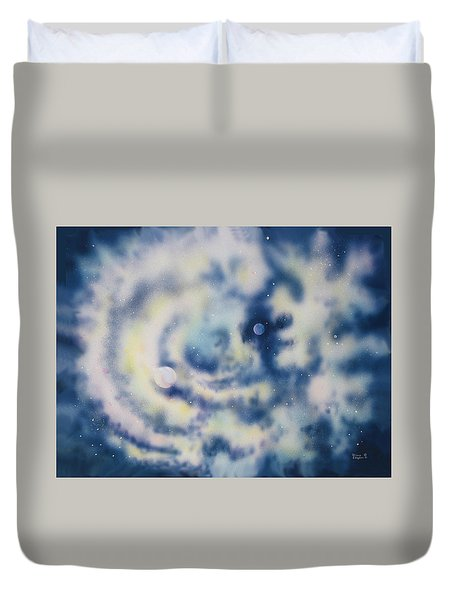 Faces Of Creation Duvet Cover