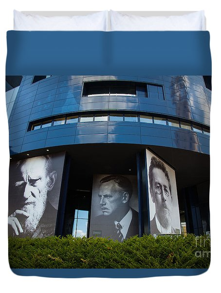 Faces Of Guthrie Theater Minneapolis Duvet Cover