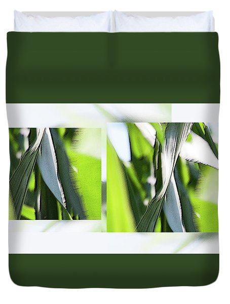 Facets In Green - Duvet Cover